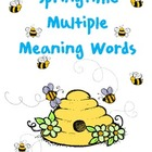 Spring Multiple Meaning Words... A Literacy Activity