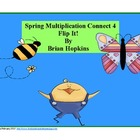 Spring Multiplication Connect 4 Flip It FREEBIE