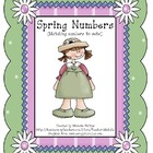 Spring Numbers! - Kindergarten - File Folder Game