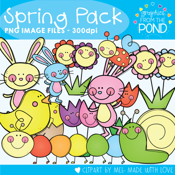 Spring Pack 2 - Easter & Spring Graphics / Clip Art