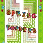 Spring Patterned Borders Collection Clip Art Commercial Use OK