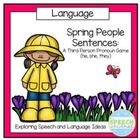 Spring People Sentences: 3rd person pronouns