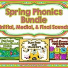Spring Phonics Bundle ~ Initial, Medial, & Final Sounds
