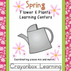 Spring Plants & Flowers Learning Centers, Word Wall, Common Core