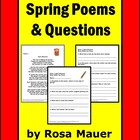 Spring Poems Reading Comprehension