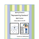 "Spring Showers ""Representing Numbers"" Math Center"