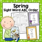 Spring Sight Word ABC Order