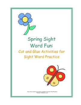 Spring Sight Word Fun