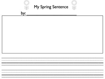 Spring Sight Word Sentences