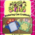 Spring Smiles with Watering Can Craftivity