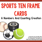Spring Sports Ten Frame Cards!  A Common Core Math Center