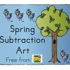 Spring Subtraction Art Freebie