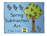 Spring Subtraction Art Freebie { Simply Kinder }