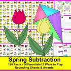 Spring Subtraction Math Centers:  190 Facts  -3 Ways to Play