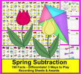 Spring Math Centers: Subtraction:  190 Facts  -3 Ways to P
