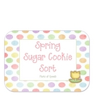 Spring Sugar Cookie Sort-Parts of Speech