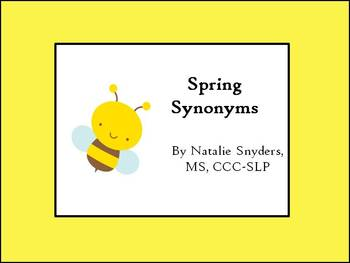 Spring Synonym Activities