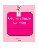 Spring - Ten More, Ten Less, One More, One Less Activity