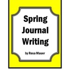 Spring Thematic Unit Writing and Editing Printables Worksh