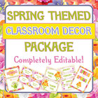Spring Theme Classroom Decor / Decoration Set - Labels, Ch