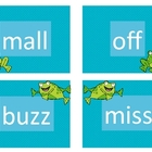 Spring Theme Reading Words Ending with Bonus Letter (ff, l