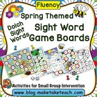 Spring Themed Sight Word Game Boards