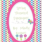 Spring Themed Synonym Puzzle Activity