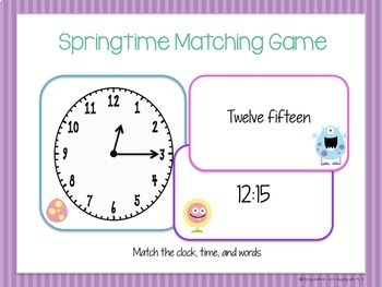 Spring Time Activity Pack: to the quarter of an hour