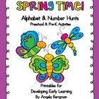 Spring Time - Alphabet and Number Hunt Pack
