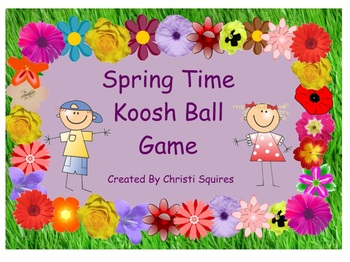 Spring Time Koosh Ball SMARTBoard Game