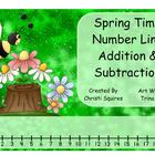 Spring Time Number Line Adding & Subtracting
