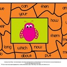 Spring Time Sight Word Puzzle Center #2