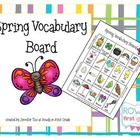 Spring Vocabulary Board