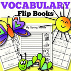 Spring Vocabulary Words Flip Book: Trace, Cut, and Color