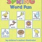 Spring Word Fun (Cut and Paste, Word Cards, 1st Letter Sor