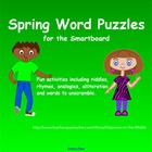 Spring Word Puzzles for the Smartboard