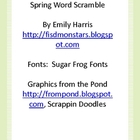 Spring Word Scramble