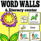 Spring Vocabulary Word Wall Cards: Hand-Illustrated {inclu