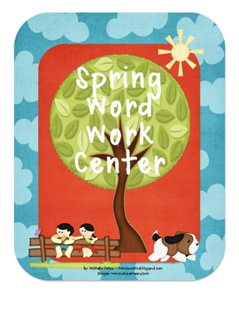 Spring Word Work Center
