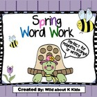 Spring Word Work for Magnets or Stamps