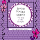 Spring Writing Cut and Paste Journal Prompts Sample (Pleas