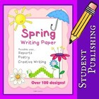 Spring Writing Paper for Reports, Poetry and Creative Writ