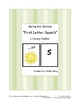 Spring and Summer &quot;Beginning Sounds&quot; Literacy Center