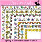 Spring and Summer Frames / Borders Clip Art - Personal & C