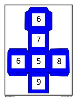 Spring and Summer Math Cubes (kindergarten and 1st grade)