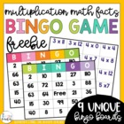 Spring and Summer Time Multiplication Bingo (Multiplicatio