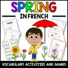 Spring in French - vocab. sheets, worksheets, matching & b