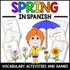 Spring in Spanish - vocab. sheets, worksheets, matching &