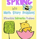 Spring into Math Story Problems Subtraction