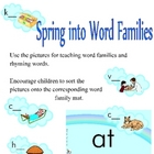 Spring into Word Families